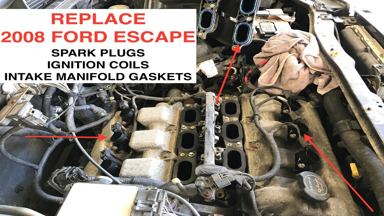 2008 Ford Escape Spark Plug, Ignition Coil, And Intake Manifold Gasket  Replacement - Duratec 3.0L V6