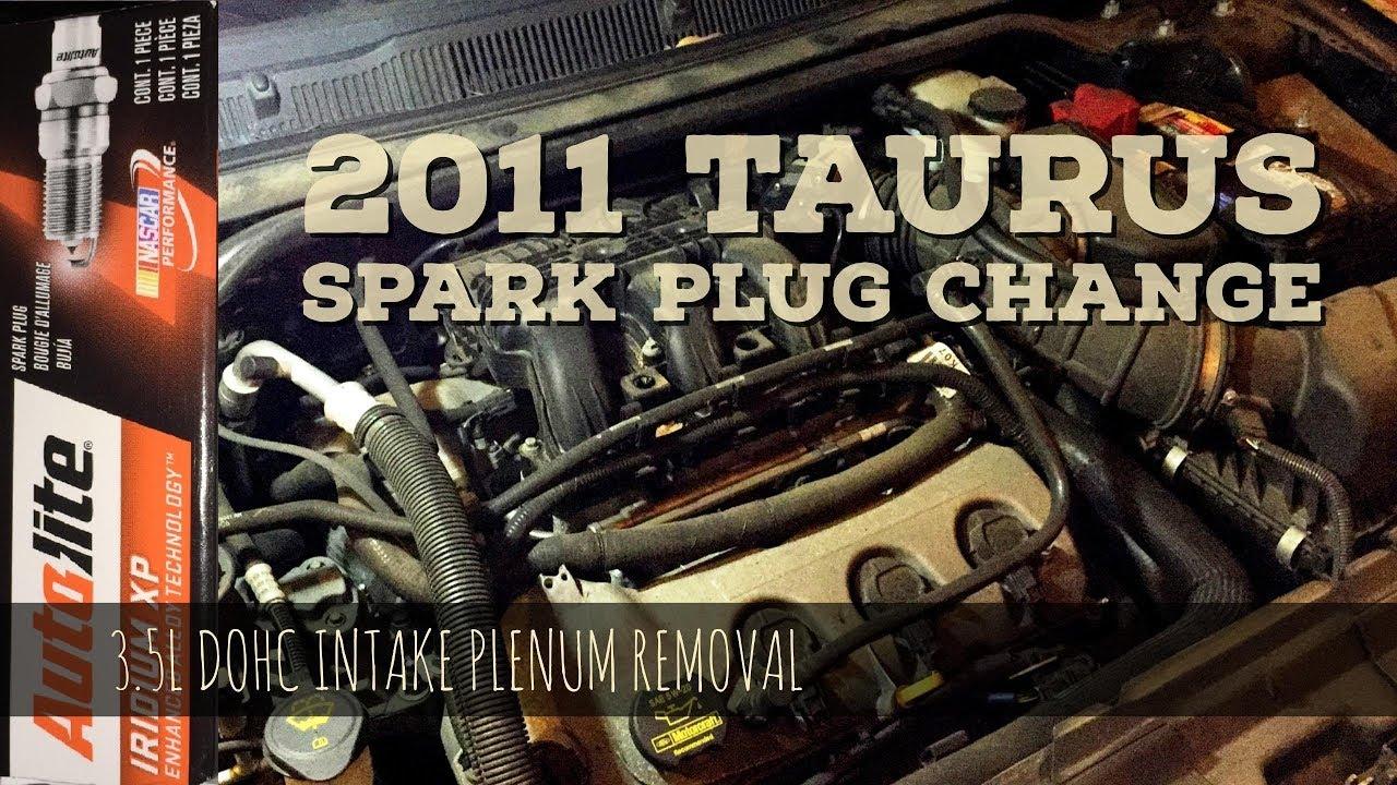 2011 Taurus 3.5L Dohc Spark Plug Change – Intake Plenum Upper Manifold  Removal (Easy)