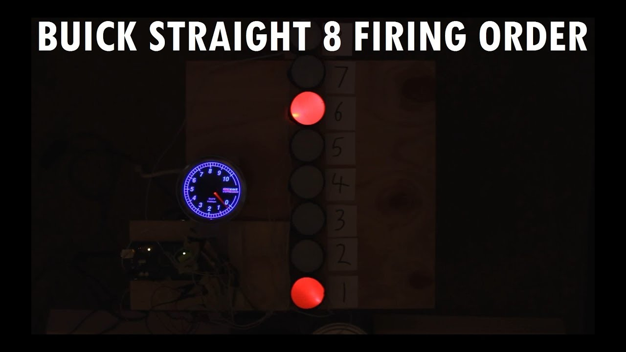 Audiovisual Demonstration Of Buick Straight 8 Inline 8 Cylinder Engine  Firing Order.