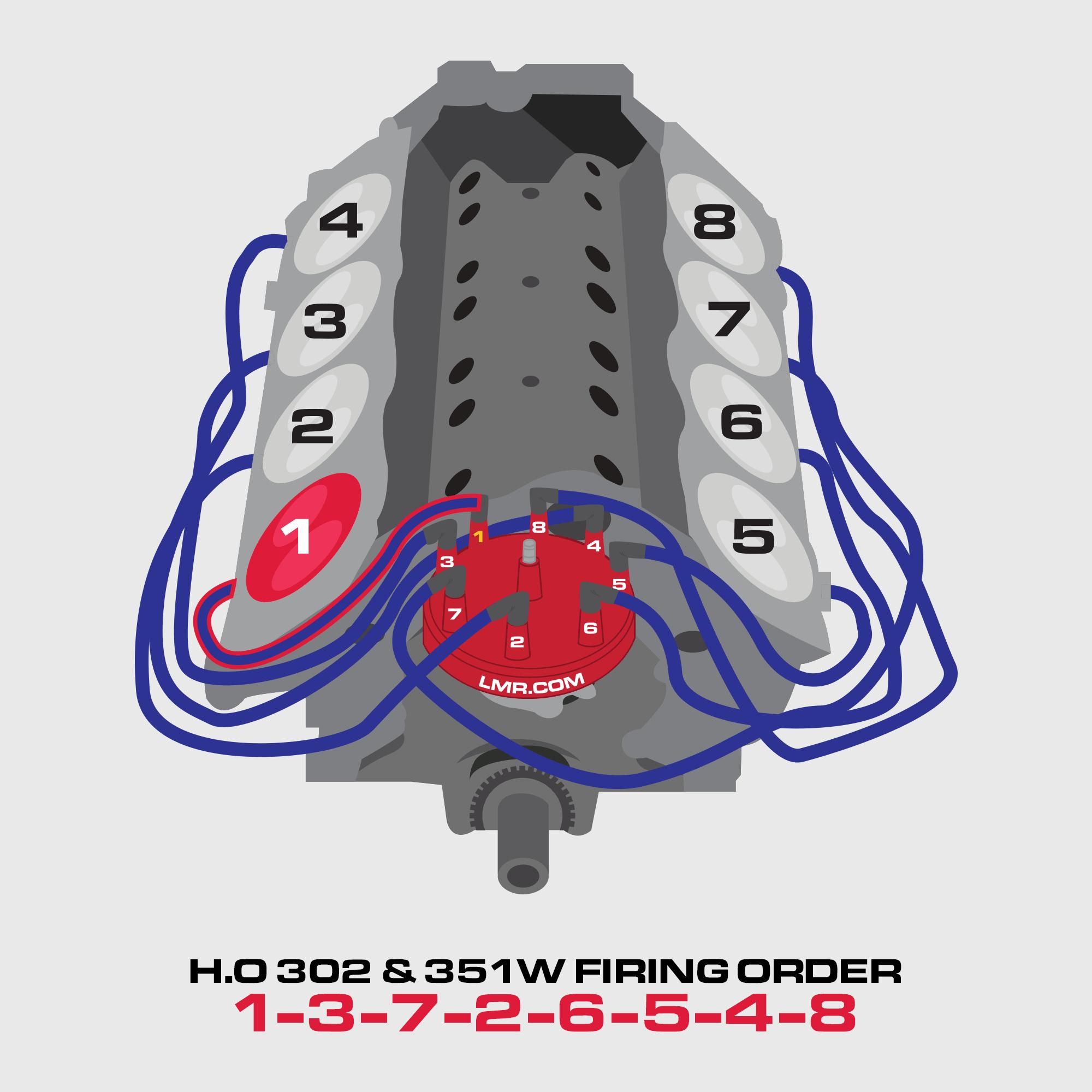 Ford 302 Motor   Firing Order - Lmr