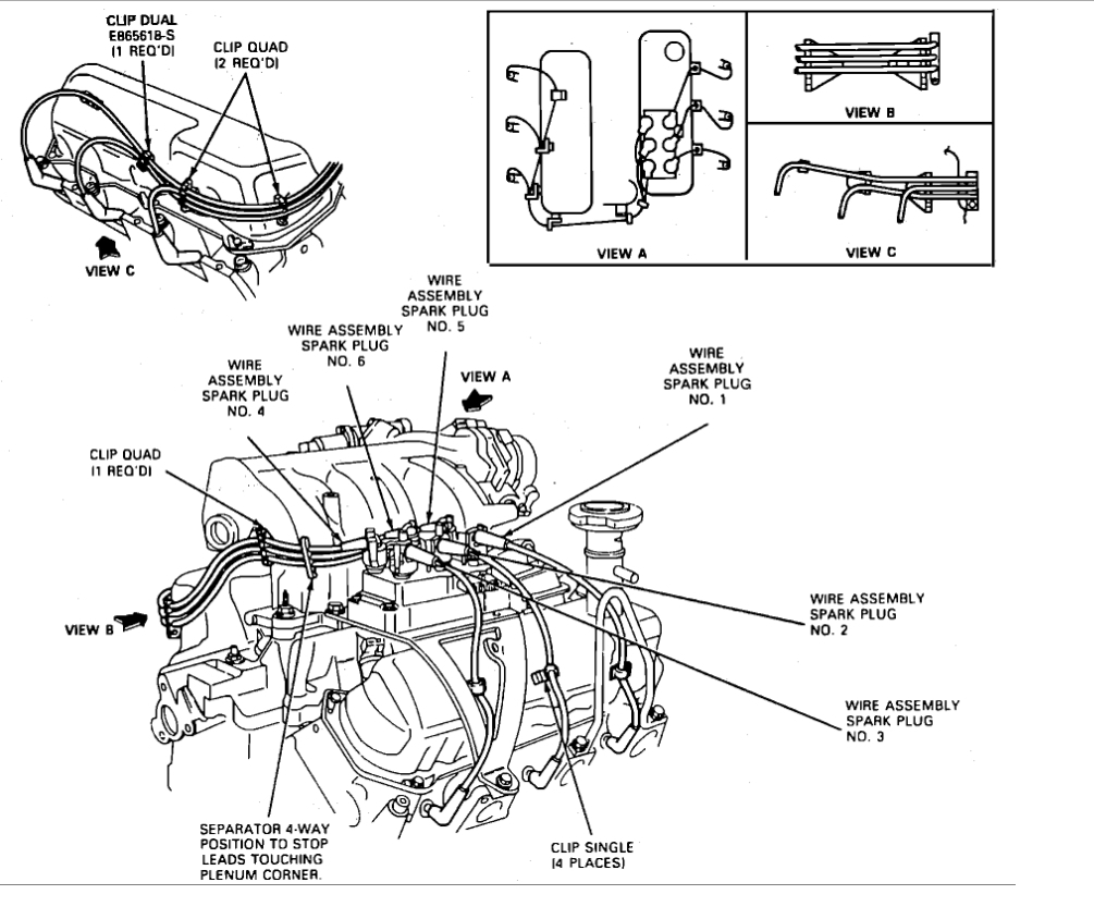 Sn_7425] 1994 Ford Explorer Spark Plugfiring Orderthe Coil