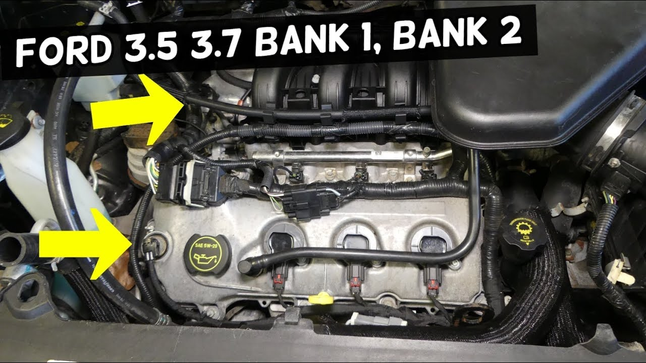 Which Side Is Bank 1 Bank 2 On Ford 3.5 3.7 Edge Flex Taurus Fusion Mkx  Mazda Cx-9