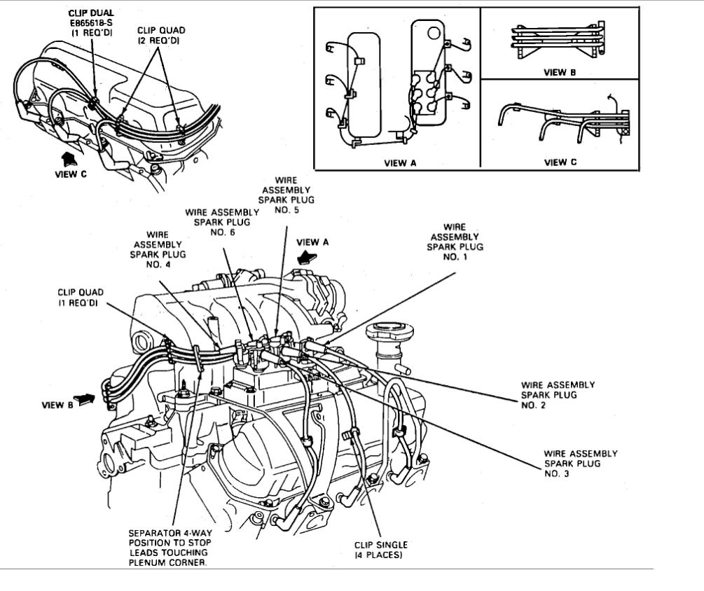Zr_2203] 1994 Ford Explorer Spark Plugfiring Orderthe Coil