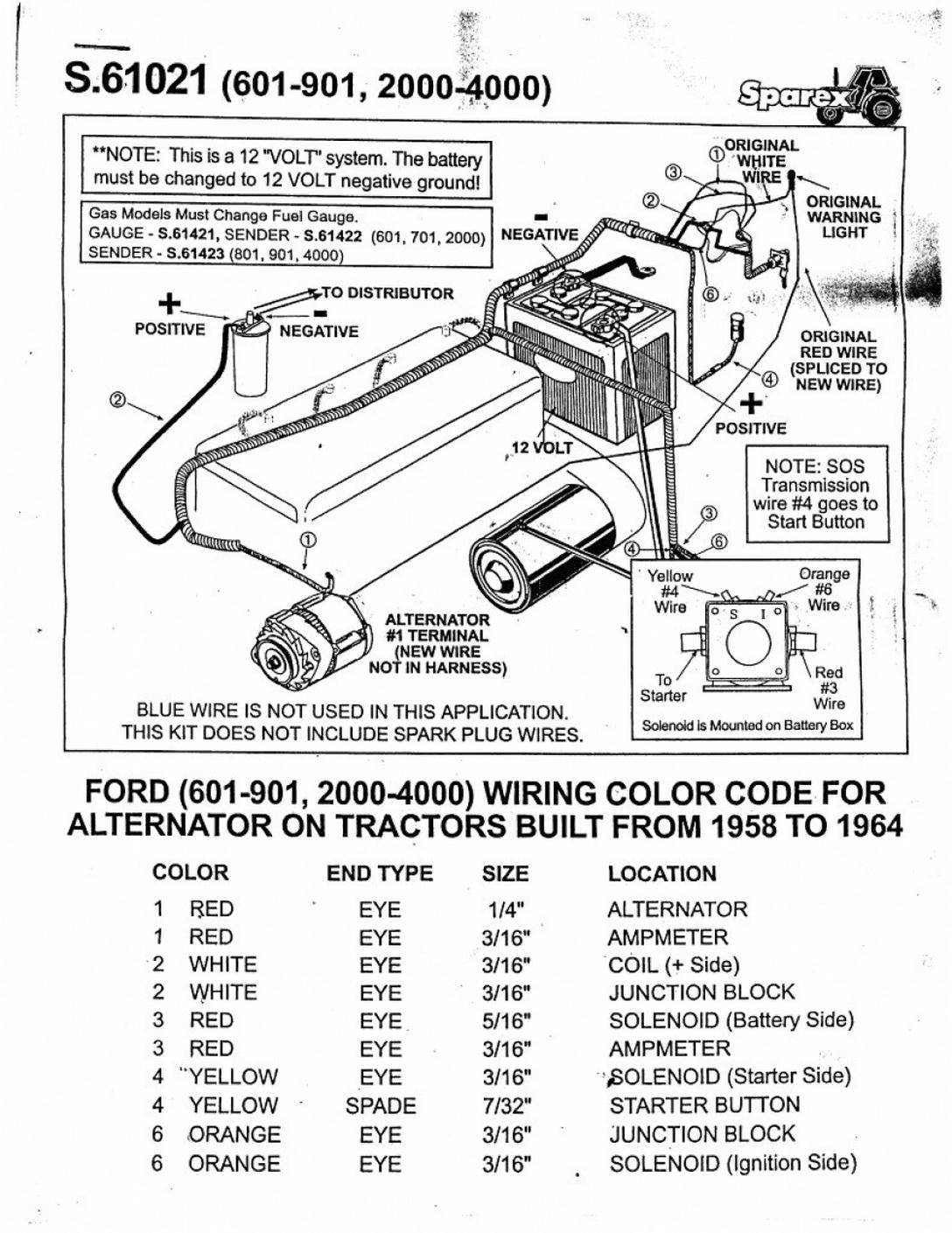 Diagram] 12V Wiring Diagram Ford 800 Tractor Full Version Hd