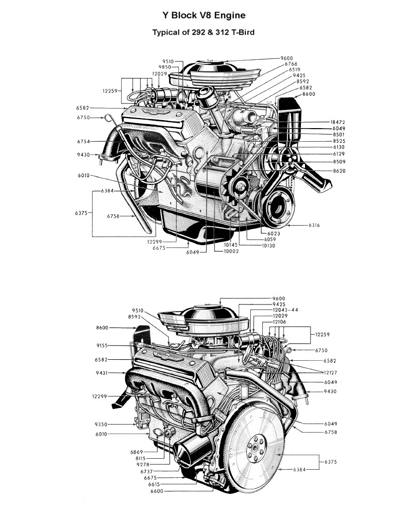 Diagram] 292 Y Block Ford Engine Diagram Full Version Hd