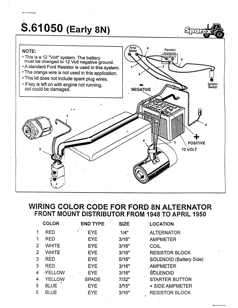 Diagram] Ford 8N Tractor Wiring Harness Diagram Full Version