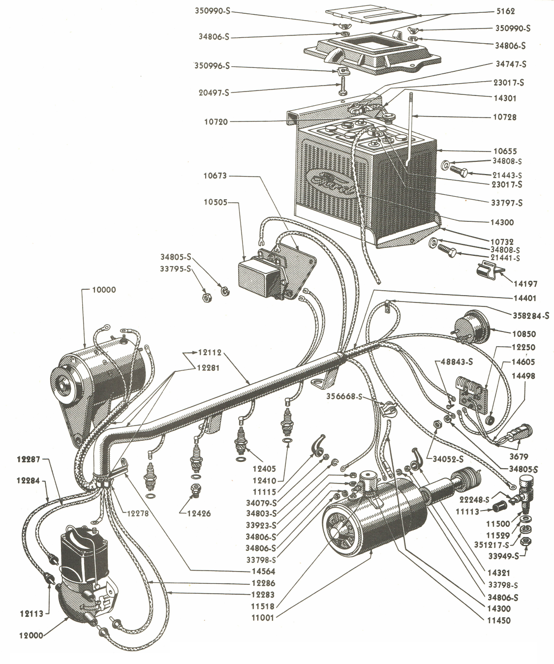 Diagram] Ford 9N Tractor Spark Plug Wiring Diagram Full