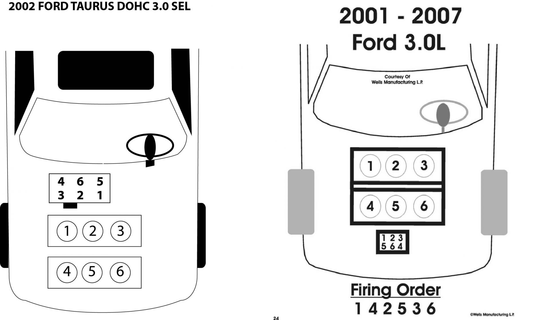 2002 Ford Taurus Firing Order Diagram -B7800 Kubota Tractor