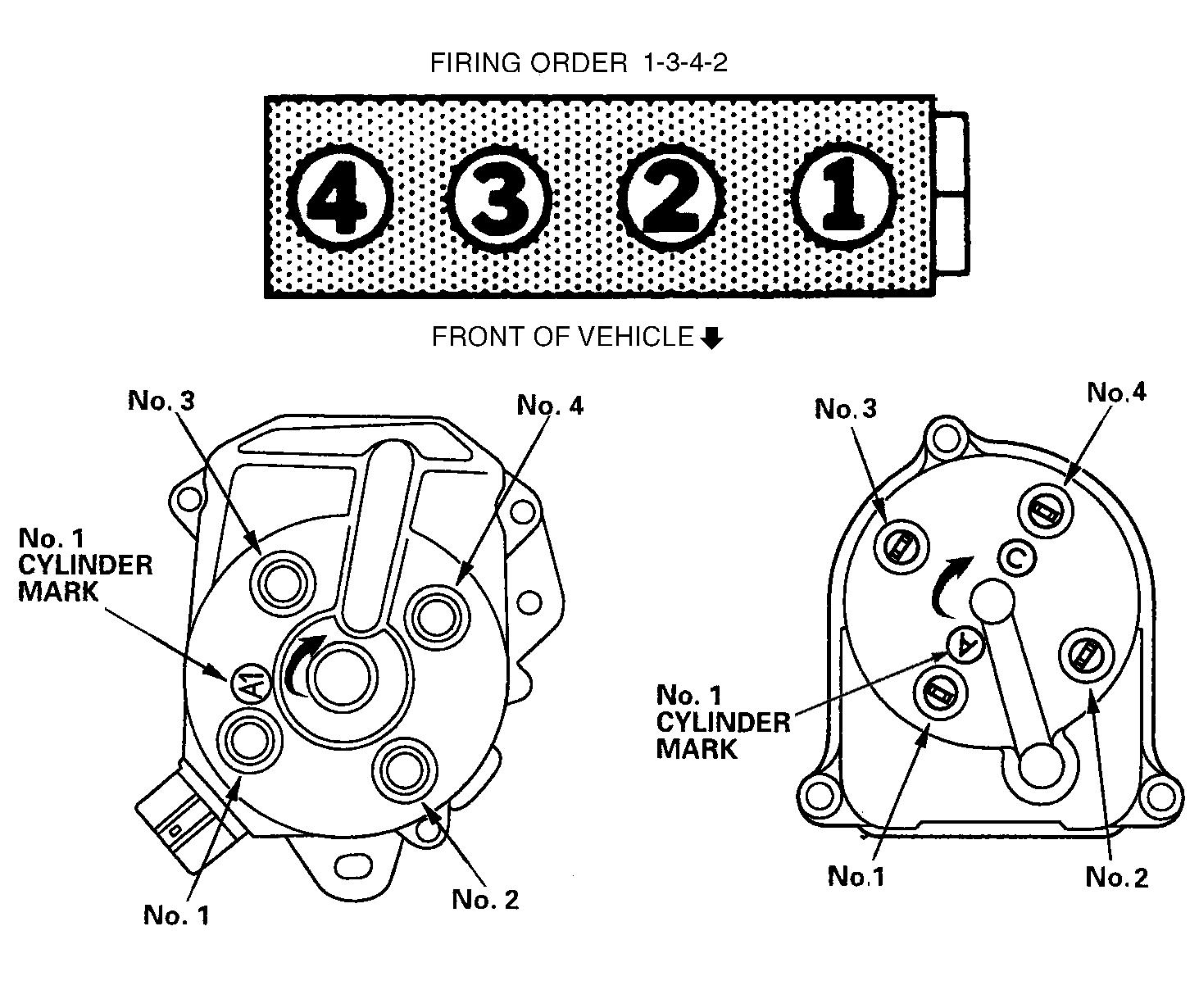 2007 Honda Accord Firing Order Diagram - Center Wiring