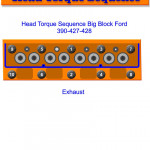 Big Block Ford (Fe) Head Torque Sequence | Gtsparkplugs