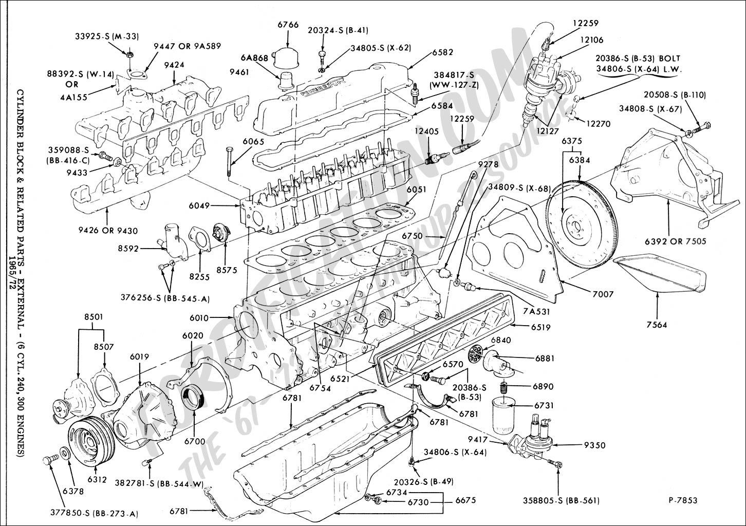 Ford 6 Cylinder Engine Diagram - Wiring Diagram Cycle